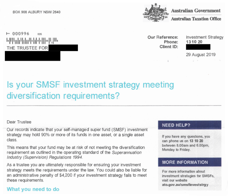 smsf investment strategy diversification in marketing